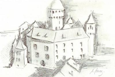 Chateau de montrottier dessin S Rouez