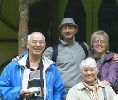 Colette Guelpa et ces amis au château de Parentignat Auvergne