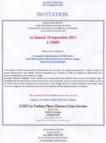 Invitation conférence Léon Marès